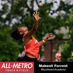 Makenli Forrest Named All Metro Track & Field Team