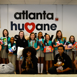 LS Girl Scout Troop Supports Atlanta Humane Society