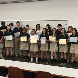 Students Recognized for Language Certifications