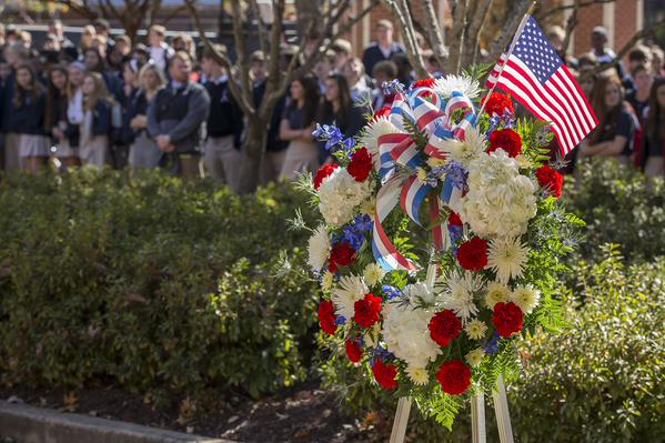 Woodward Academy: Memorial Plaza on Veterans Day