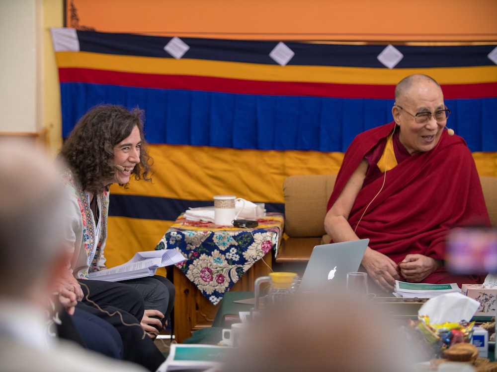 Teacher Shares Work of Woodward Students with the Dalai Lama