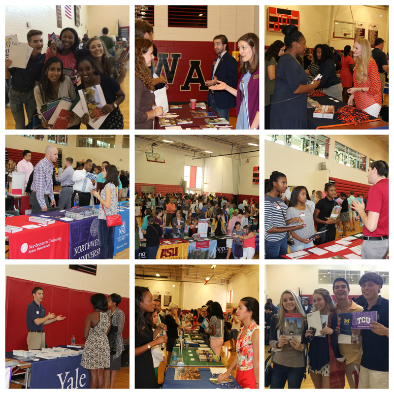 Woodward Academy Students at College Fair