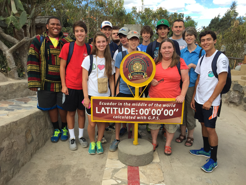 Woodward students in Ecuador