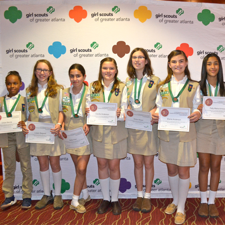 Girl Scout Troop Earns Young Women of Distinction Award