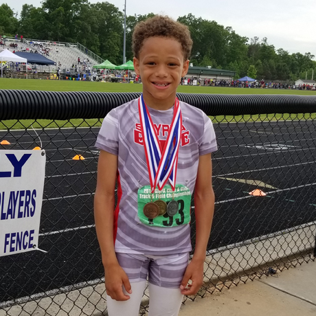 Fourth-Grader Wins First in Track State Championship